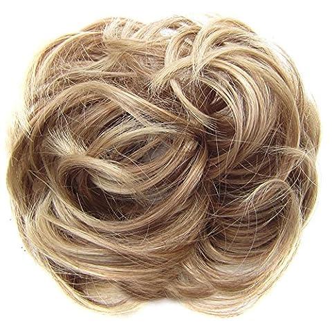 Gemini _ Mall® Haargummi Haar/Haarteil für Haarknoten/Pferdeschwanz Hair Extensions gewellt