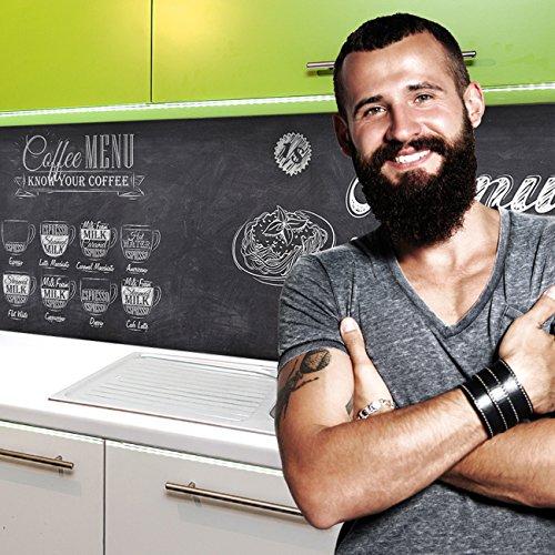 StickerProfis Küchenrückwand selbstklebend Pro BISTRO MENU 60 x 80cm DIY - Do It Yourself PVC Spritzschutz