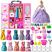 SOTOGO Doll Clothes Set for Barbie Dolls Include Doll Clothes Party Grown Outfits and Different Doll Accessori
