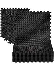 cozime 8x Noir Tapis de protection Set de tapis de protection sol Puzzle Tapis Eva Tapis de sol