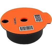 FLAMEER Réutilisable PP Café Capsule Pod avec Slicone Couvercle pour Bosch Tassimo Machine, Faire Votre Café Préféré