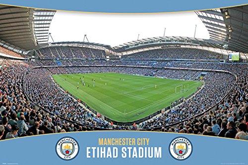 r City Etihad Stadion Maxi Poster, Holz, Mehrfarbig, 61x 915cm ()