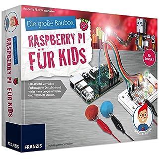 FRANZIS Die große Baubox: Raspberry Pi für Kids   LED-Würfel, verrückte Farbenspiele, Discolicht und vieles mehr programmieren