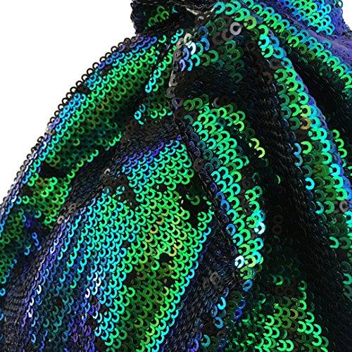 LA HAUTE, Borsa tote donna Green Sequin Green Sequin