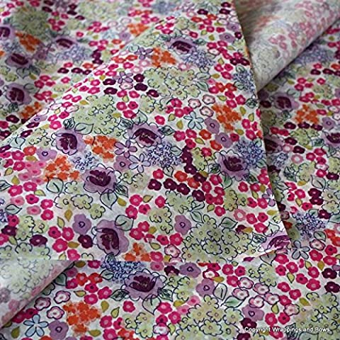 Patterned Printed Tissue Wrapping Paper Liberty Bloom Design 5