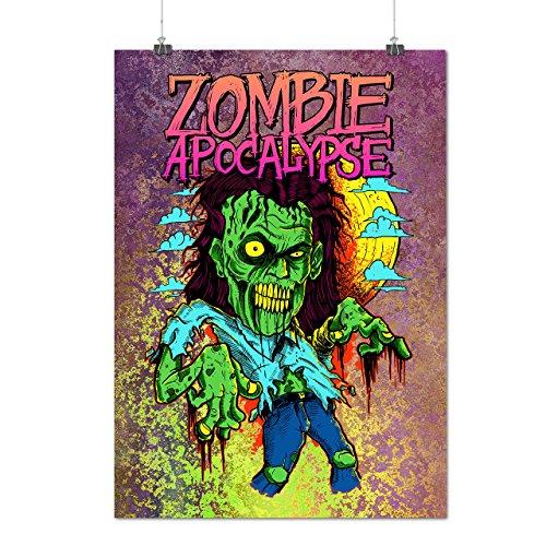 Zombie Apokalypse Horror Mattes/Glänzende Plakat A3 (42cm x 30cm) | (Zombie Asyl Apokalypse)