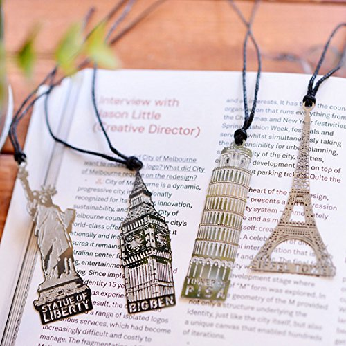 aisi-vintage-retro-kreative-metall-4-stuck-set-lesezeichen-bookmark-paris-eiffelturm-london-new-york