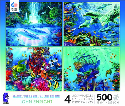 4 in 1 Multi Pack Seaside Jigsaw Puzzle by Ceaco