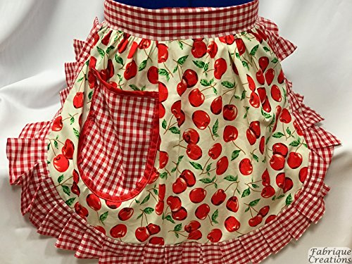 fabrique-creations-retro-vintage-50s-style-half-apron-pinny-ivory-red-cherries-cherry-with-red-and-w