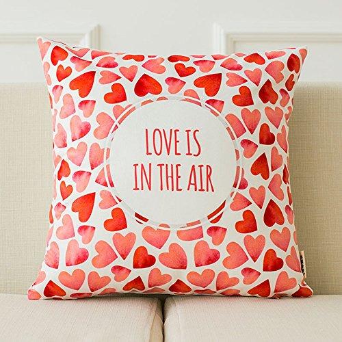 GJM Shop U Coussin en coton multifonctionnel --- Love Suede Pillow Creative 100% polyester en fibre canapé oreiller bureau de voiture Tapis arrière, avec coussin --- Protection - couverture de coussin pliable de ( Couleur : 2 )