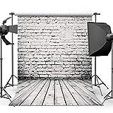 Damier 8ft(W) x 8ft(H) Backsteinmauer Hintergründe Fotografie Holz Boden Foto Studio Hintergrund