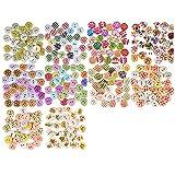 Buntes Bastel-Holzknöpfe-Set, 300 Stück, Holzknöpfe mit wunderschönen unterschiedlichen Designs
