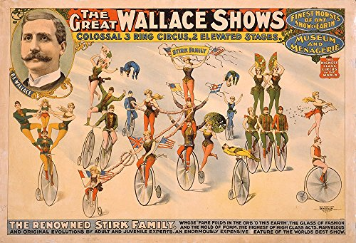 Spiffing Prints The Great Wallace Shows Circus Poster - Extra Large - Matte Print