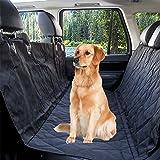 Hundedecke Auto,Hundedecke Auto Rückbank,Wasserdicht Hunde Autodecke, Rutschfest Hundeschutzdecke mit Hunde Sicherheitsgurt Design für alle Autos, Lastkraftwagen & SUV schwarz-145x135CM