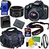 Canon EOS Rebel T6 Digital SLR Camera With EF-S 18-55mm IS II Lens + Canon EF 50mm F/1.8 STM Lens - International Version (No ) + 32GB Accessory Kit W/ HeroFiber Ultra Gentle Cleaning Cloth