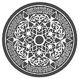 dekodino Wandtattoo Orientalisches Ornament Wohnzimmer Wandaufkleber Wandsticker