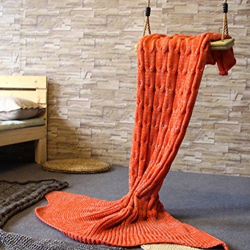 Mädchen Gestrickt Häkeln Meerjungfrau Schwanz Decke Mit Funkeln Flake, 63