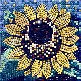 kit de mosaico, 20x20cm, Girasol