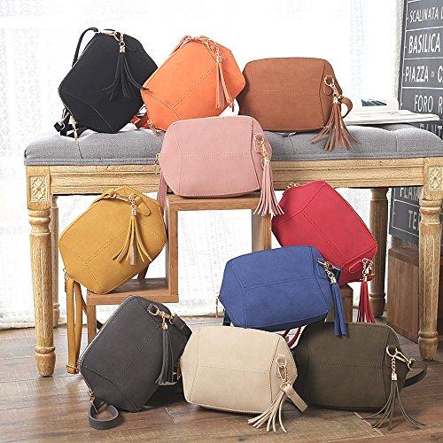 ESAILQ Sac à bandoulière en cuir pour femme Sac à main en sac bandoulière Hobo Crossbody Bags