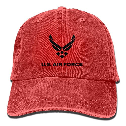 Zhgrong Caps US Air Force Vintage Washed Dyed Cotton Adjustable Plain Cowboy Cap Army Cap (Militärische Us-air-force-kinder)