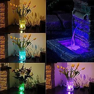 10 Pezzi Mini RGB Sommergibile Luce LED,LUXJET Luci per Laghetto con Telecomando, Multi Color impermeabile Lampeggiante Luminoso per Partito/Natale/Piscina/Fish Tank/Giardino Decorazione