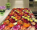 Xcmb Hauptdekoration-Blumenbetriebsblumen 3D Bodenbelag Dreidimensionales Painting-450Cmx300Cm