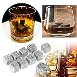 9 PCS/Set Arvin87Lyly Reutilizable Piedra de Hielo Whisky Cooling Stones Ice Cubes Adecuado para Enfriamiento Rápido Whisky, Cerveza, Bebidas, etc.