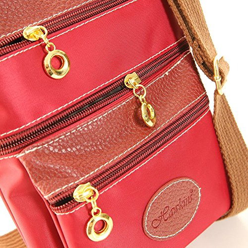 Hawkins, Borsa a tracolla donna Navy medium RED
