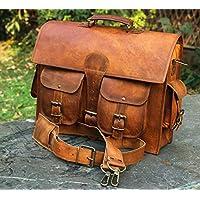 Ledertaschen Vintage Soft Leder Messenger Braun Laptop Umhängetasche Echte Aktentasche Beste Business Reisen Echtes Leder Aktentasche