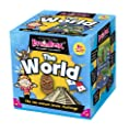 Green Board Games BrainBox The World - Juego de preguntas sobre el mundo (en inglés) por Green Board Games