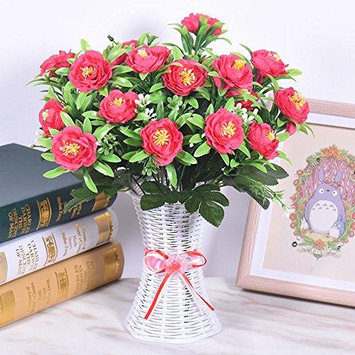 Künstliche Blumen der Tischfläche Imitation echter Blumenschmuck im Schlafzimmer Wohnzimmer Tisch Dekoration Kunststoff Blumentopf, ICH