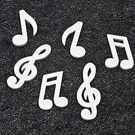 24 Note musicali bianche di legno Taglia Unica