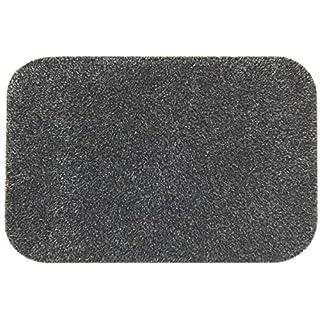 Die originale Fußmatte von Dirt Trapper | Standard, extra groß, Läufer | Maschinenwaschbar | Rutschfeste Rückseite –Schiefer, 120cm x 130cm, abgerundete Ecken, slate, Custom