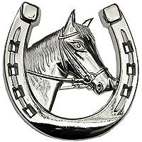 HR Art 5028 Pferd Hufeisen Pferde für Kühlergrill 3D Relief Emblem RICHTER