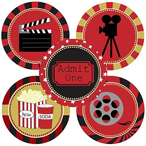 Adorebynat Party Decorations - EU Film-Nacht-Aufkleber-Aufkleber - Kino-Theater-Partei-Dekoration Supplies - Set 50