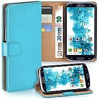 Samsung Galaxy S3 Hülle Türkis mit Karten-Fach [OneFlow 360° Book Klapp-Hülle] Handytasche Kunst-Leder Handyhülle für Samsung Galaxy S3 / S III Neo Case Flip Cover Schutzhülle Tasche