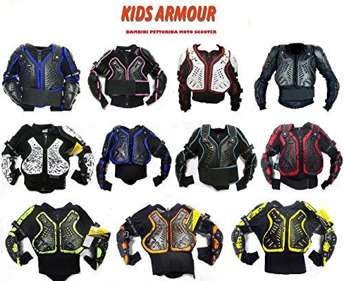 Bambini Motocross Giacca: XTRM Junior Enduro Corpo Pettorina Moto Corazza, Quad Scooter Armatura Protettiva Gilet, Tutti I Colori - Camo Giallo - 6 A
