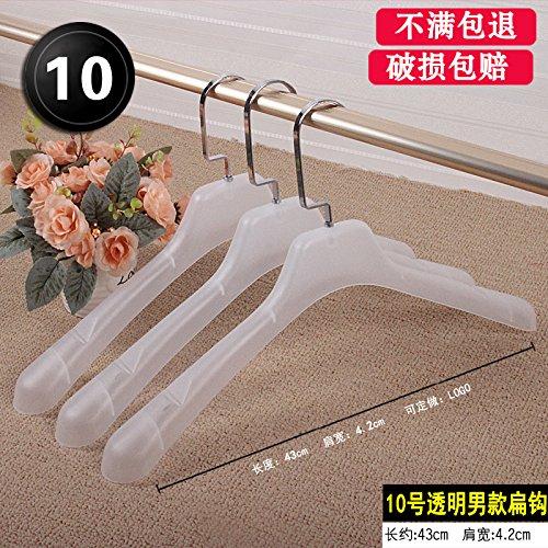 SQYJ 5 Paar Kunststoff Hosen, Hosen, Pads, Kleidung Shop, Kleiderbügel, Kleidung für Männer und Frauen, Schwarze Kleidung und Kleiderbügel, Hundert, 10 Transparente Männlichen Flache Haken