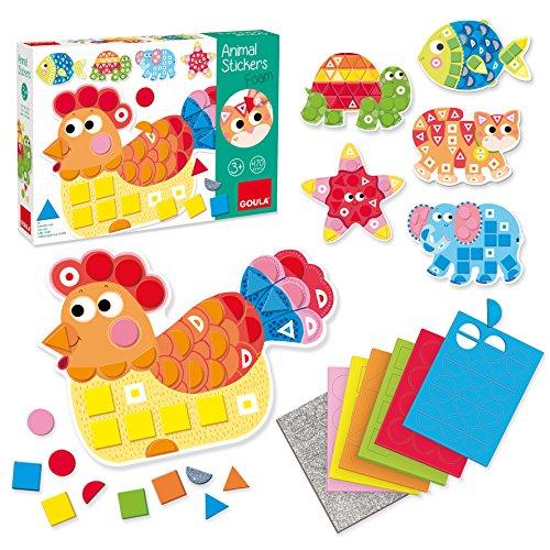 Unbekannt Goula D53149 Schaumstoff-Sticker Tiere Lernspiel