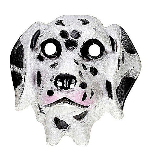 WIDMANN Kunststoff-Maske für Kinder, Dalmatiner, Masken, Augenmasken und Verkleidungen für Maskenade, Kostüm-Zubehör