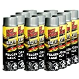 Motip Dupli - Fast Finish Felgenlack silber Autolack Rallye Spraydose 500ml 12 Stück