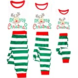 Conjunto de Pijamas Familia Navidad Niño Mujer Hombre Ropa de Dormir Algodón Pijamas Manga Larga 2 piezas Xmas Disfraz Papá M