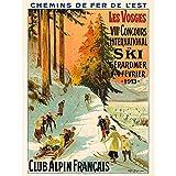 Wee Blue Coo Advert Ski Contest Vosges France Alpine Club Winter Sport Wall Art Print Mur Décor 30 x 41 cm...