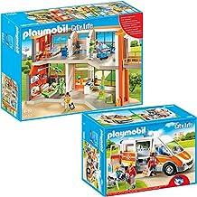 PLAYMOBIL® City Life Die freundliche Kinderklinik 2-tlg. Set 6657 6685 Kinderklinik mit Einrichtung + Krankenwagen mit Licht & Sound