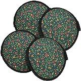 COM-FOUR® 4x Knieschützer, Knieschoner mit Klettband, rund, Ø 16 cm, 2 Paar für Arbeiten in Garten und Hau