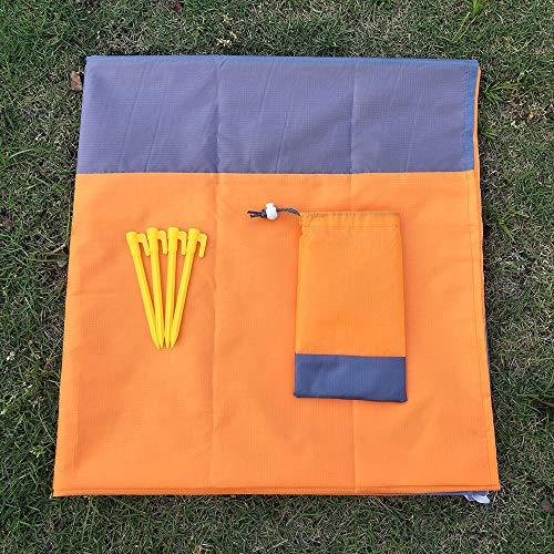 SKNB Picknickmatte Strandmatte, tragbare, kompakte, Wasser- und sanddichte Picknickdecke im Taschenformat - ideal für Camping, Picknicks, Strandausflüge, Wandern und Natur,Orange