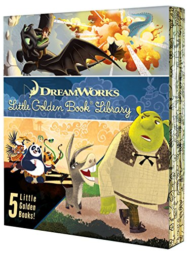 DreamWorks Little Golden Book Library 5 copy boxed set -