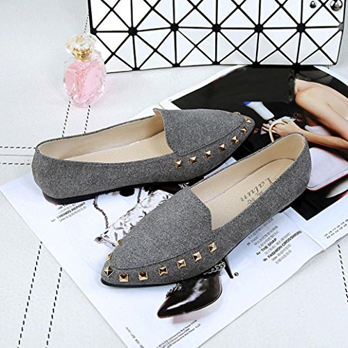 Soft Scarpe Rivetto Slip Donna Scarpe Shoes Da Casual Gray SOMESUN Barca Casual Flats Flats Womens Shoes Rivet Comodi Signore On Boat 66wAOvqa