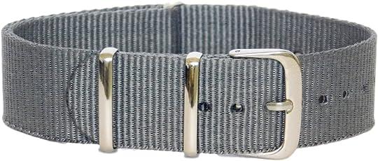 Stech 20mm Grey Nylon NATO Strap for Watch (Stech_grey)