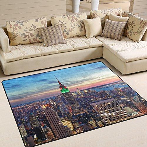 Naanle New York City, rutschfest, Bereich Teppich für Dinning Wohnzimmer Schlafzimmer Küche, 50x 80cm (7x 6m), für die Kinderzimmer-Teppich Boden Teppich Yoga-Matte, multi, 150 x 200 cm(5' x 7')